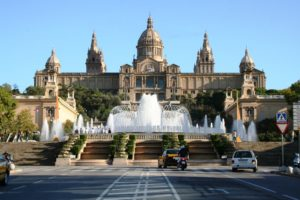 Catalonian national museum MNAC and Magic Fountain in Barcelona